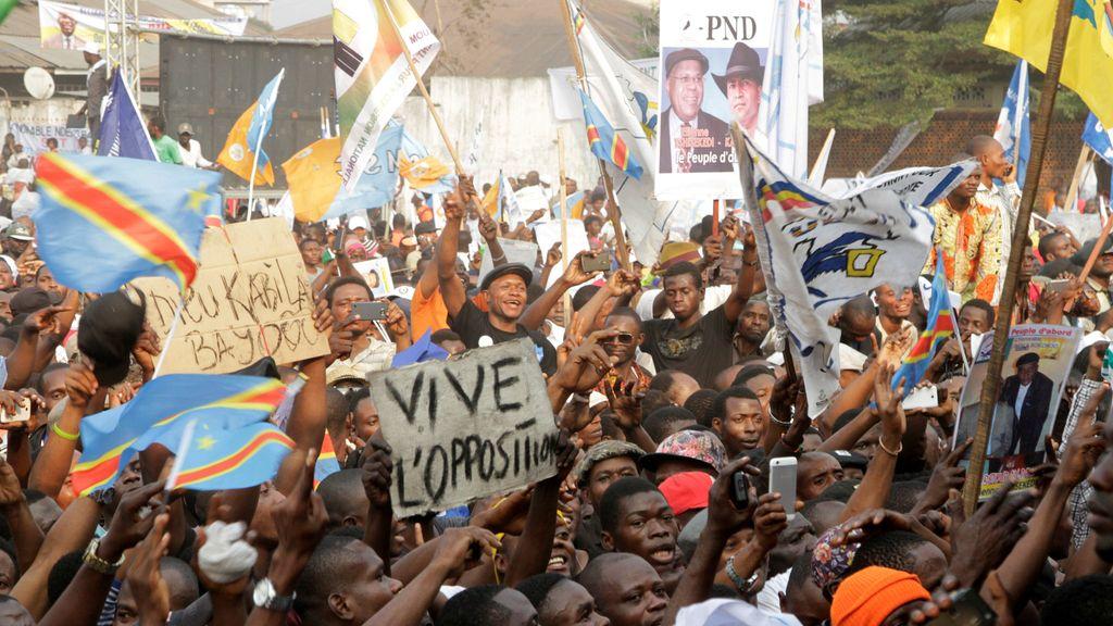 Apoyo masivo a la oposición congoleña