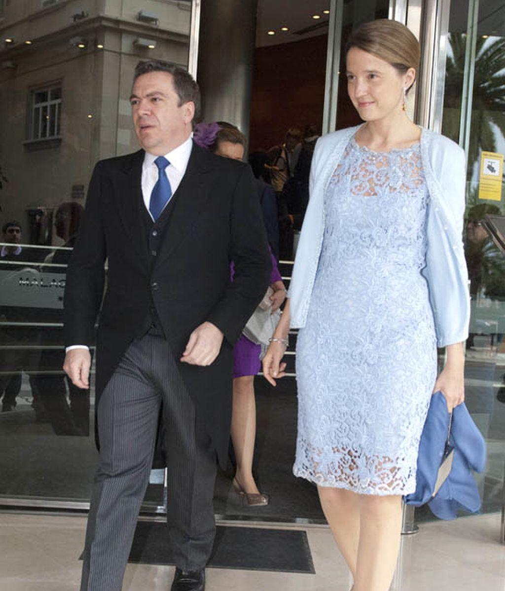 Isabel Sartorius y los Príncipes de Asturias, juntos en la boda de Álvaro Fuster