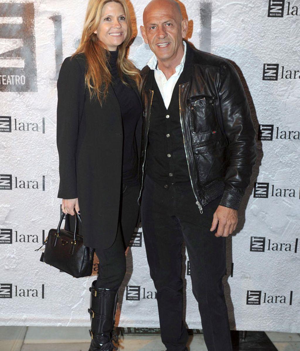 Santi Millán y Marta Torné, arropados en la presentación de 'Más allá del puente'