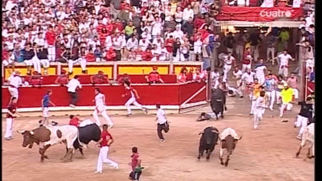 2 minutos y 27 segundos de carrera, una de las más rápida de las fiestas de San Fermín