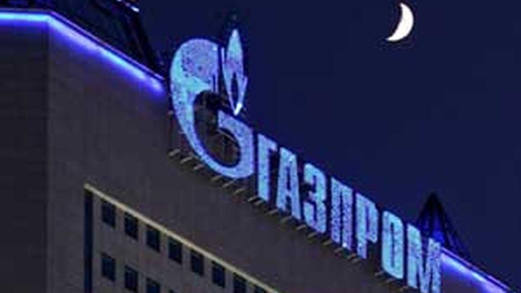 Vista del edificio que acoge la sede de Gazprom, en Rusia. Foto: EFE