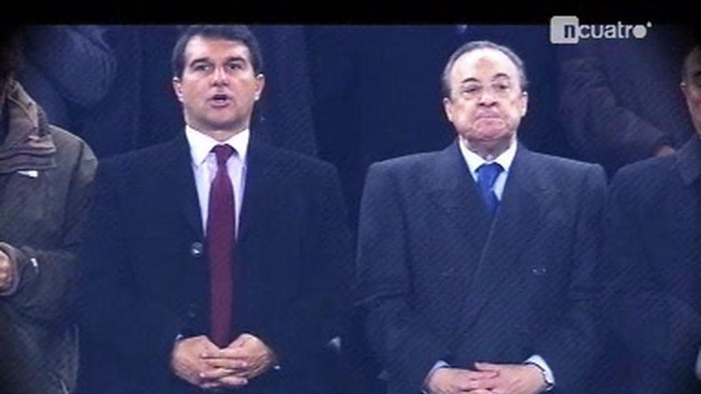 Encuentro en el palco del Camp Nou