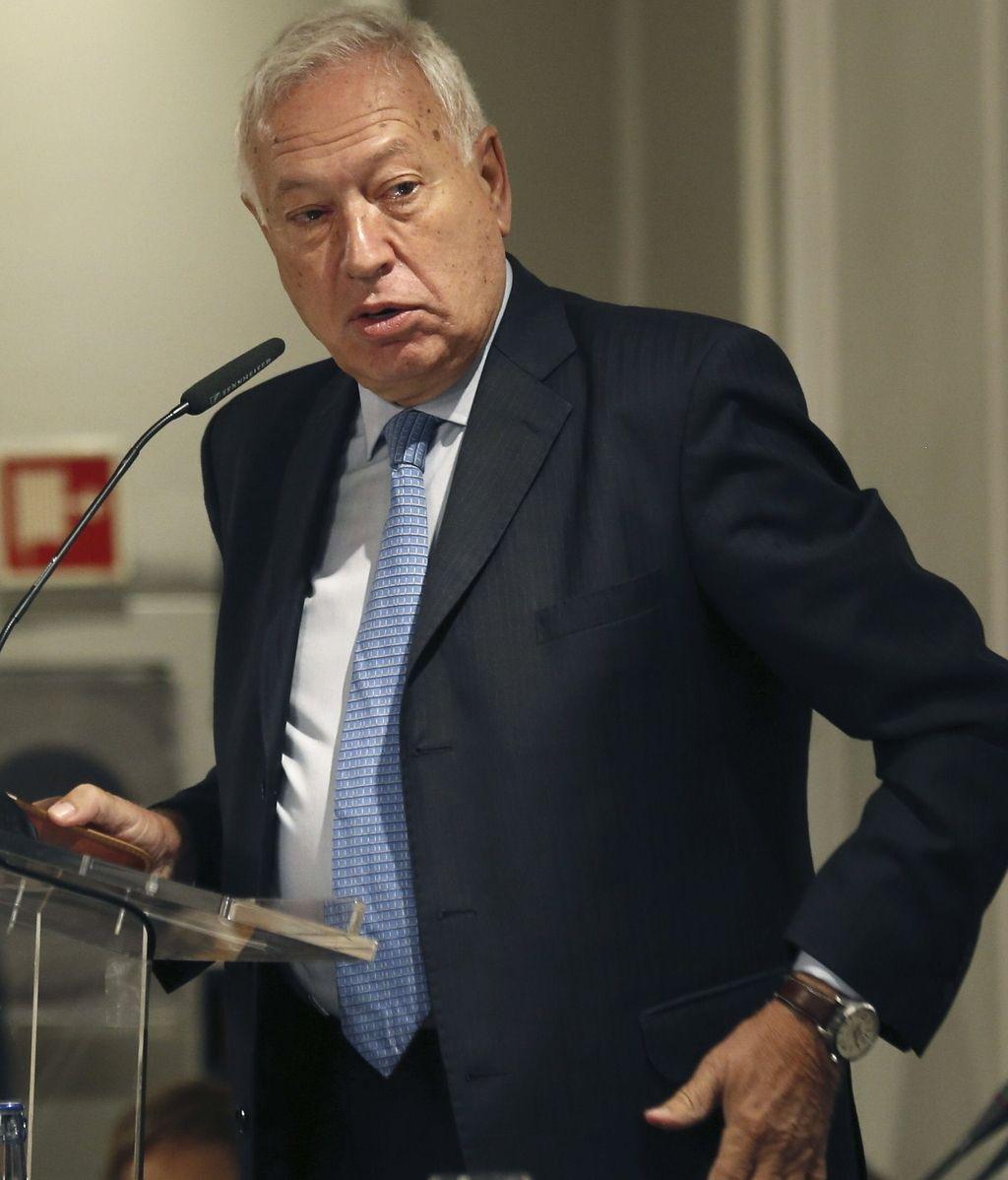 José Manuel García Margallo, ministros de Exteriores, en un desayuno informativo