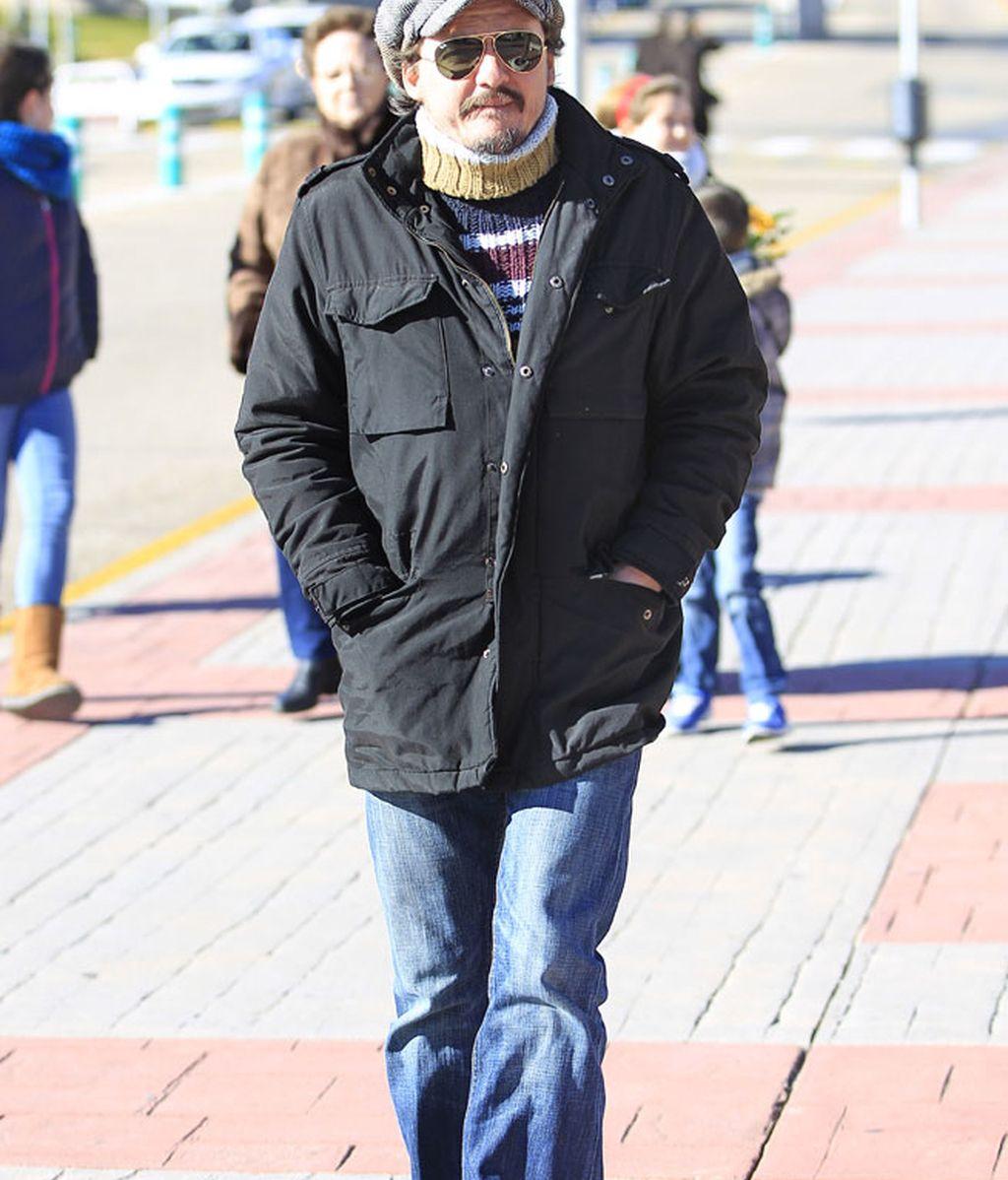 El cantante Coque Malla en el tanatorio de La Paz