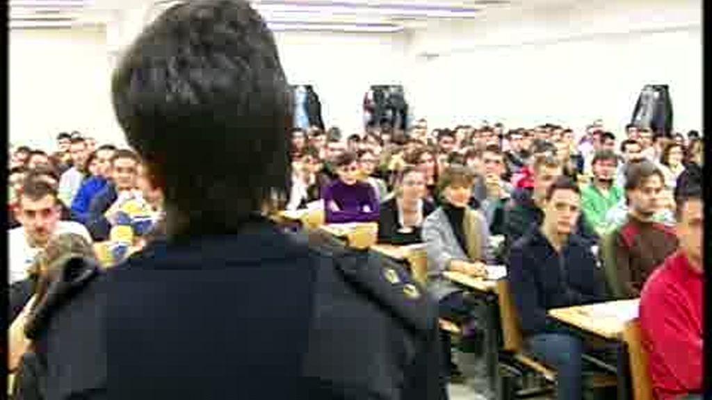 Examen para los futuros policias