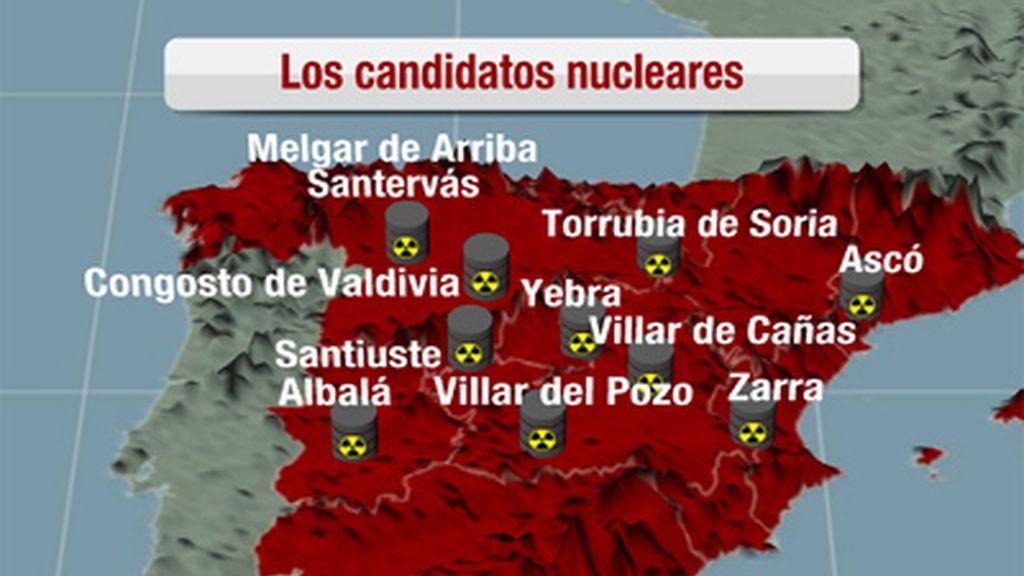 Al menos once municipios han solicitado albergar el almacén nuclear