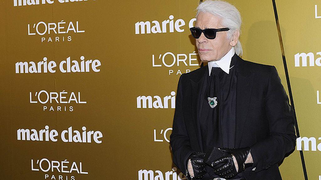 Karl Lagerfeld fue una de las grandes estrellas de la noche
