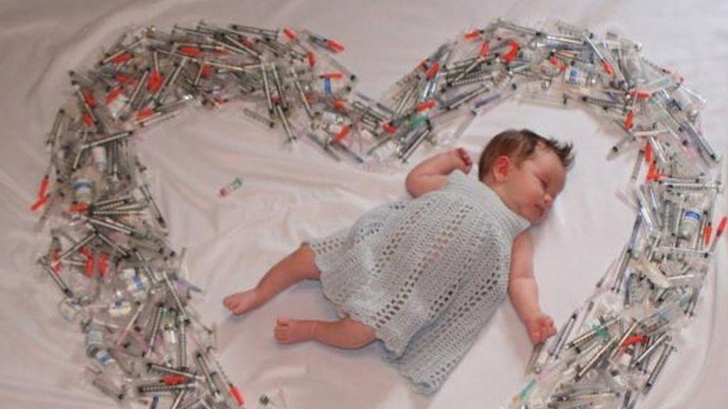 La inspiradora foto de un bebé
