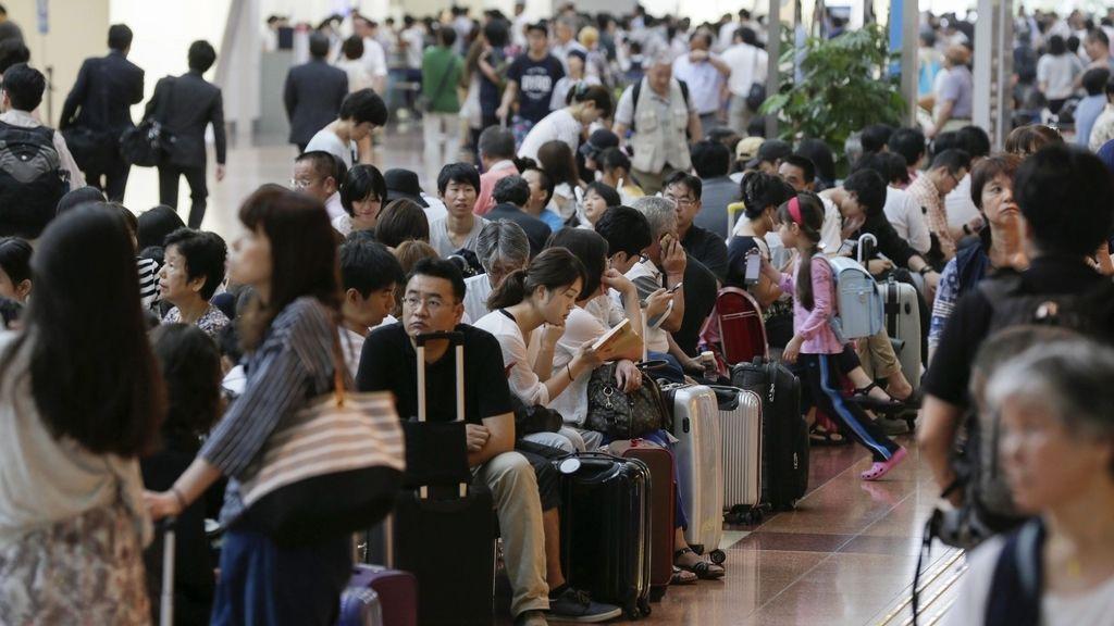 Vuelos cancelados en Tokio