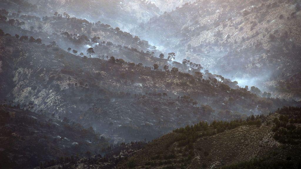 El incendio en Quesada, Jaén, calcina gran parte de la sierra