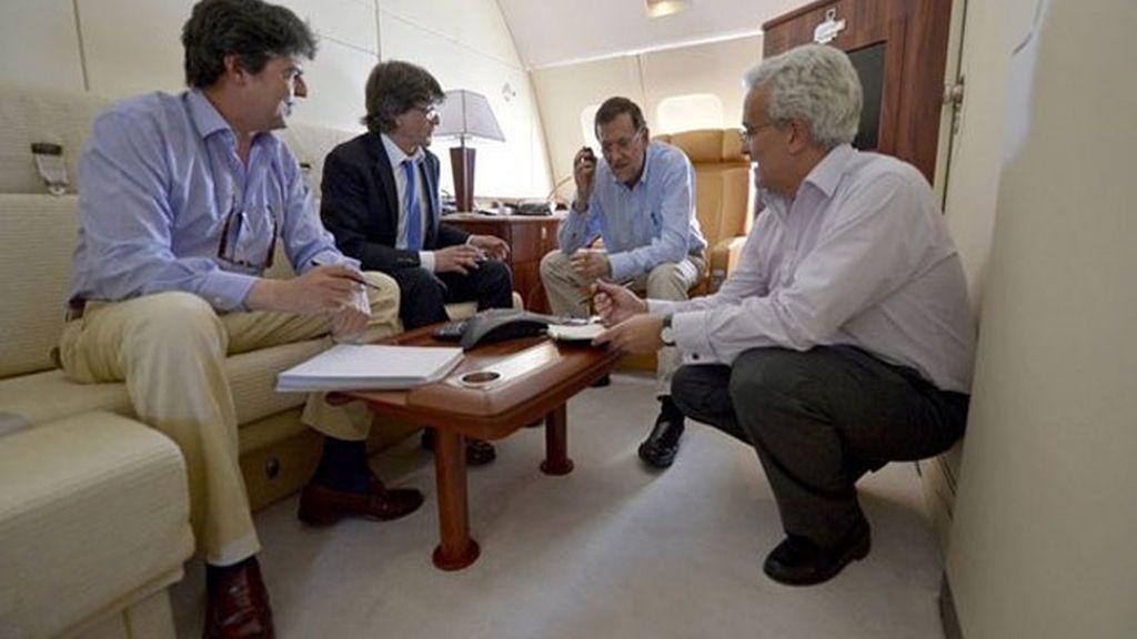 El cátering aéreo de los vuelos para Rajoy y el rey Juan Carlos cuesta  320.000 euros