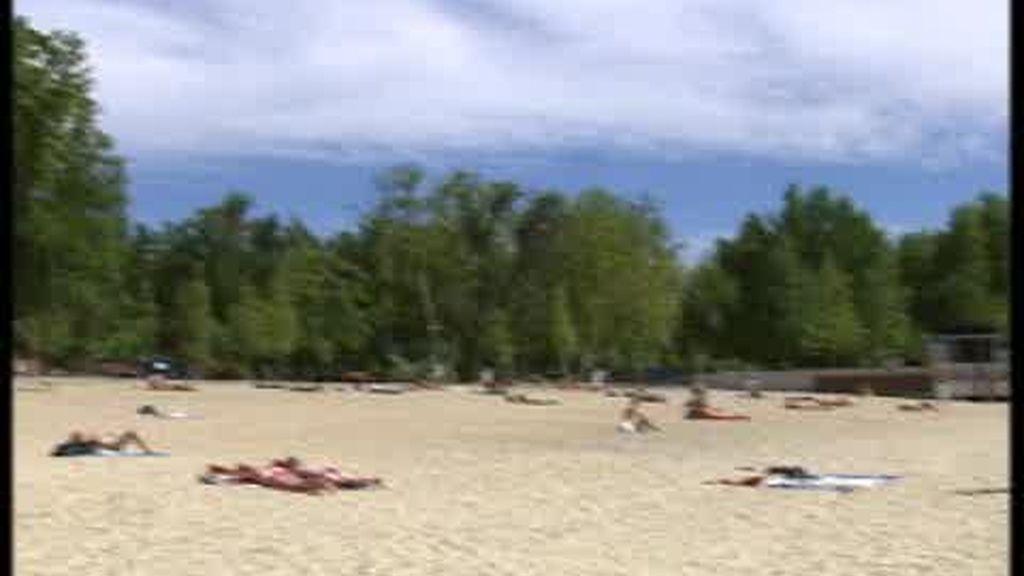 Aquí, en Madrid, sí hay playa