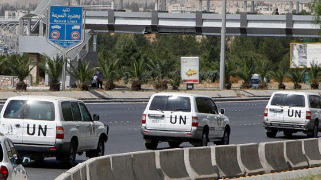 Observadores de Naciones Unidas en Siria