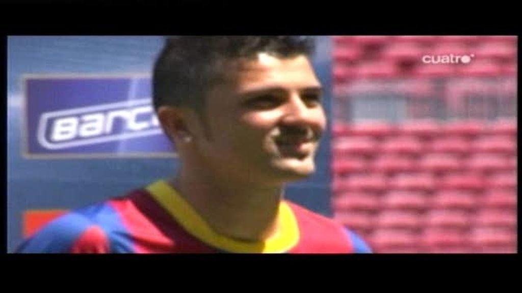 Hoy debuta Villa con el Barcelona