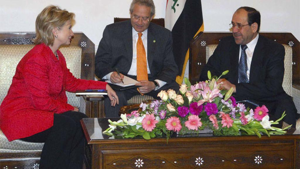Hillary Clinton en Bagdad