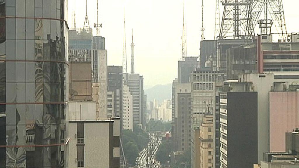 Vista aérea de la ciudad de Sao Paulo