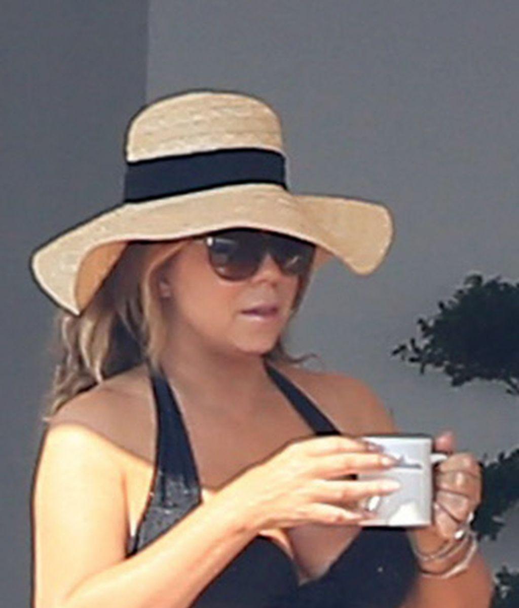 Mariah Carey disfruta en Ibiza