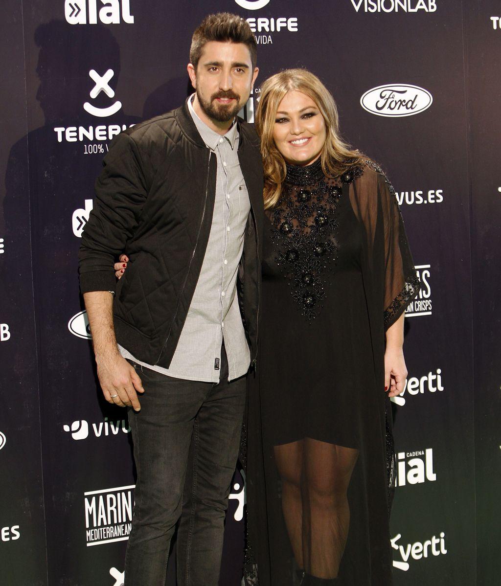 Álex Ubago y Amaia Montero posaron juntos
