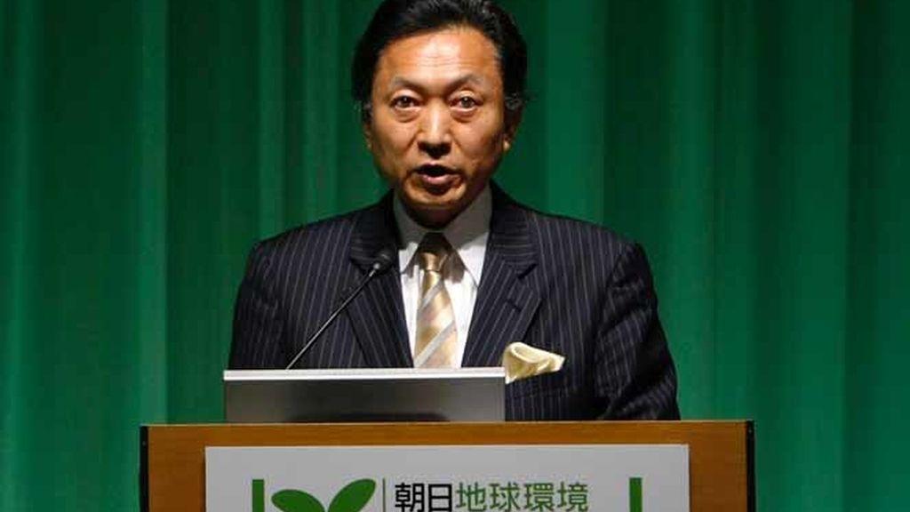 Yukio Hatoyama en una cumbre sobre el clima
