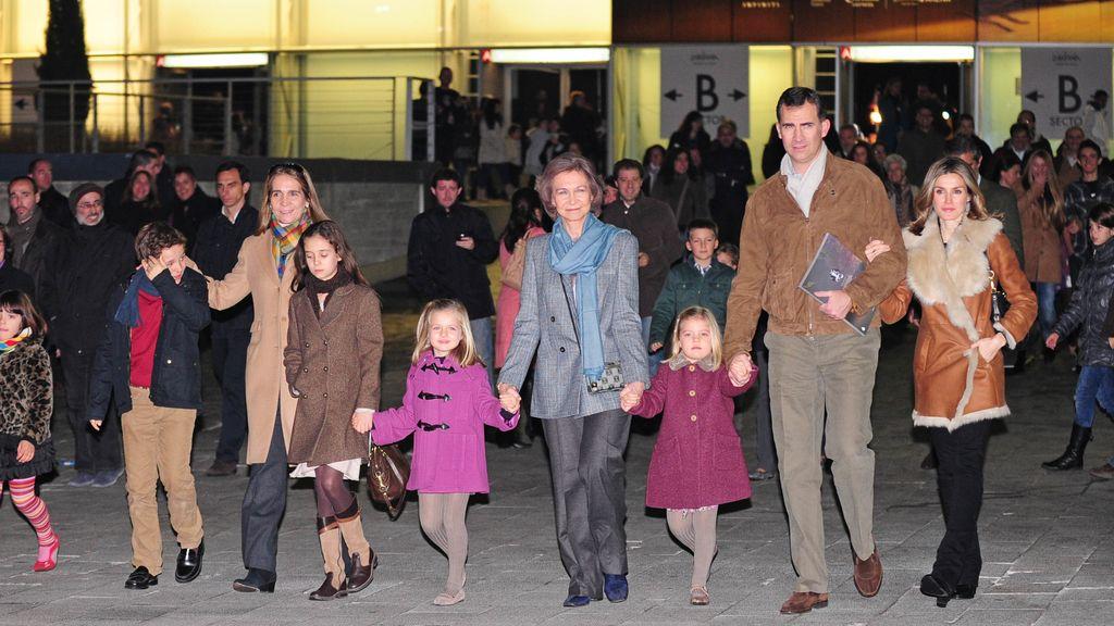 La Familia Real, al circo sin los duques de Palma