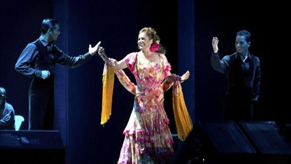 La tonadillera Isabel Pantoja durante un concierto. EFE/Archivo