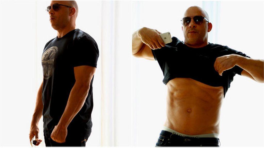 Vin Diesel responde a las críticas y presume de cuerpo en las redes