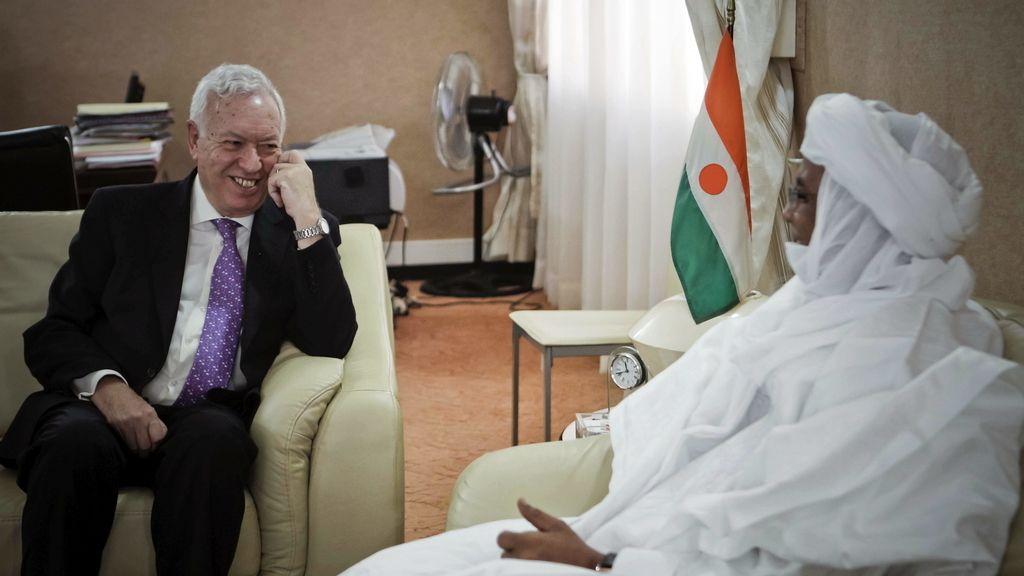José Manuel García-Margallo, ministro de Exteriores, en Níger. Foto: EFE