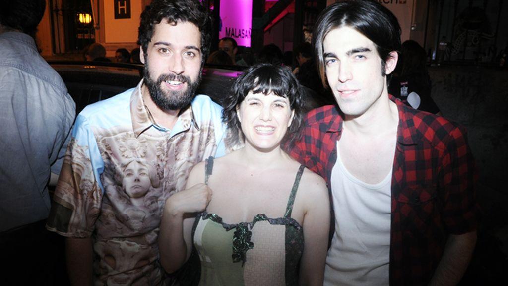 El diseñador Moises Nieto, Carmen Cocida y Jokin Astorkia