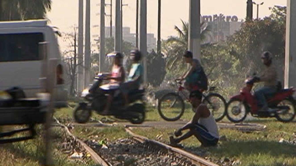 Mucho tráfico en Manila