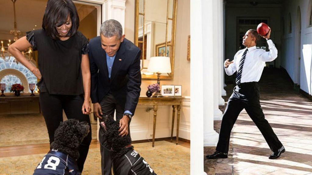 En la Casa Blanca todos lo celebraron, ¡hasta los perros!