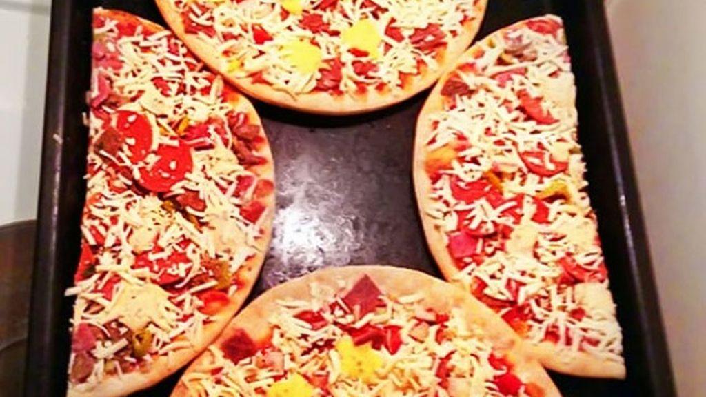 Caben dos pizzas en el horno