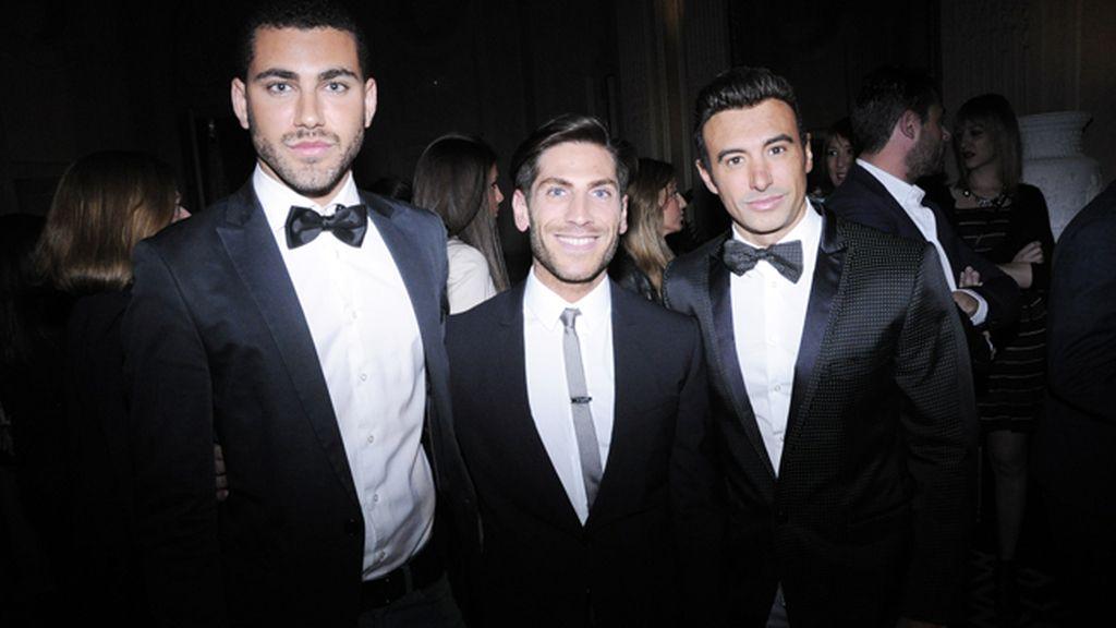 Lucas Navarro, el PR de Dolce & Gabbana Alessando Sicoli y Pol Gutiérrez