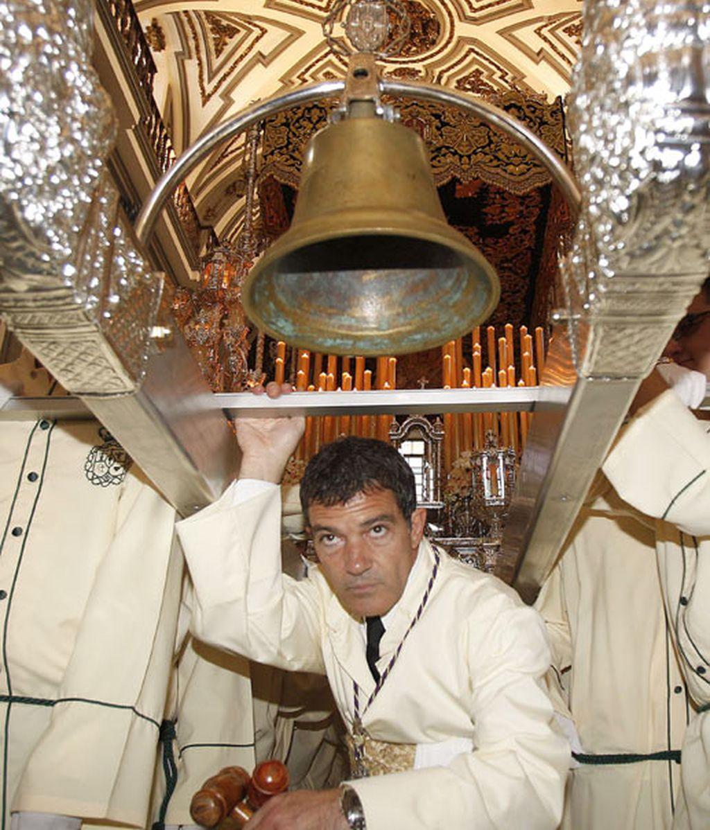 Antonio Banderas, participante fijo en la Semana Santa malagueña