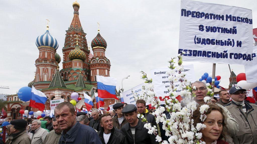 Fiesta del 1 de mayo en el Kremlin