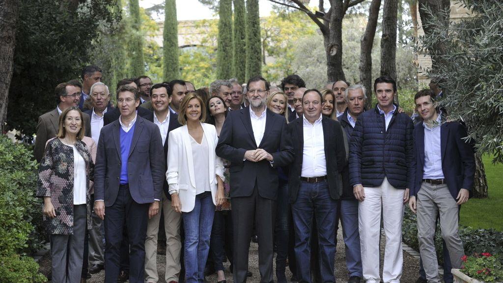 Foto de familia de la cúpula del PP