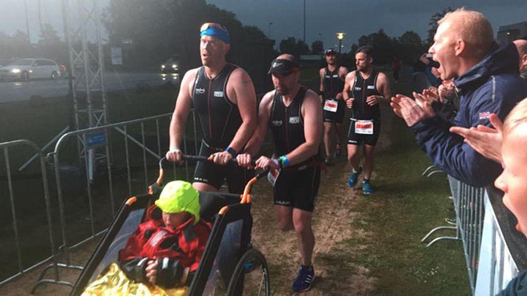 Harrison y Alex en el triatlón Iroman