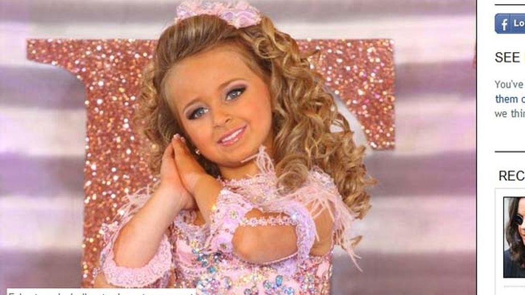 Con 6 años se hace millonaria gracias a los concursos de belleza