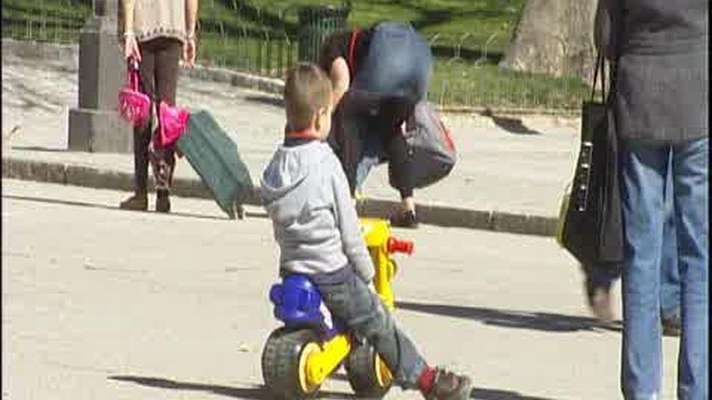 Los niños, sin colegio en Madrid