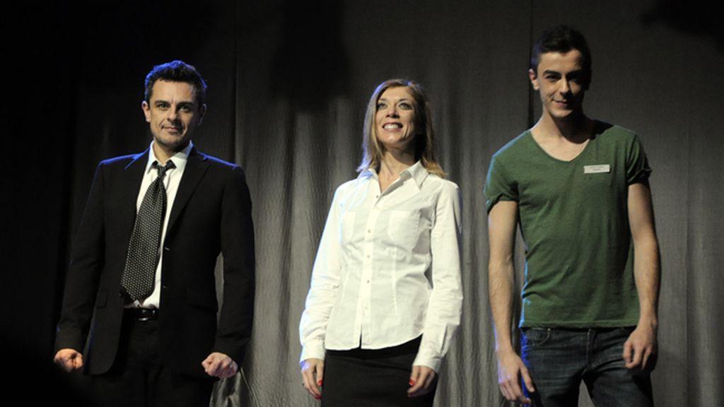 Mauricio Bautista, Eva Isanta y Victor Palmero saludaron al público al finalizar 'Atrapados'