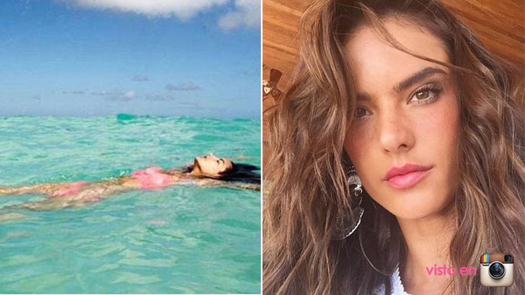Alessandra Ambrossio está pasando unas vacaciones de lujo junto a su familia