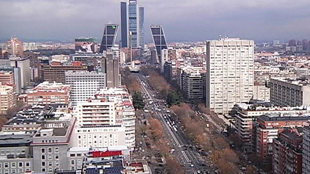 Vista aérea del Paseo de la Castellana