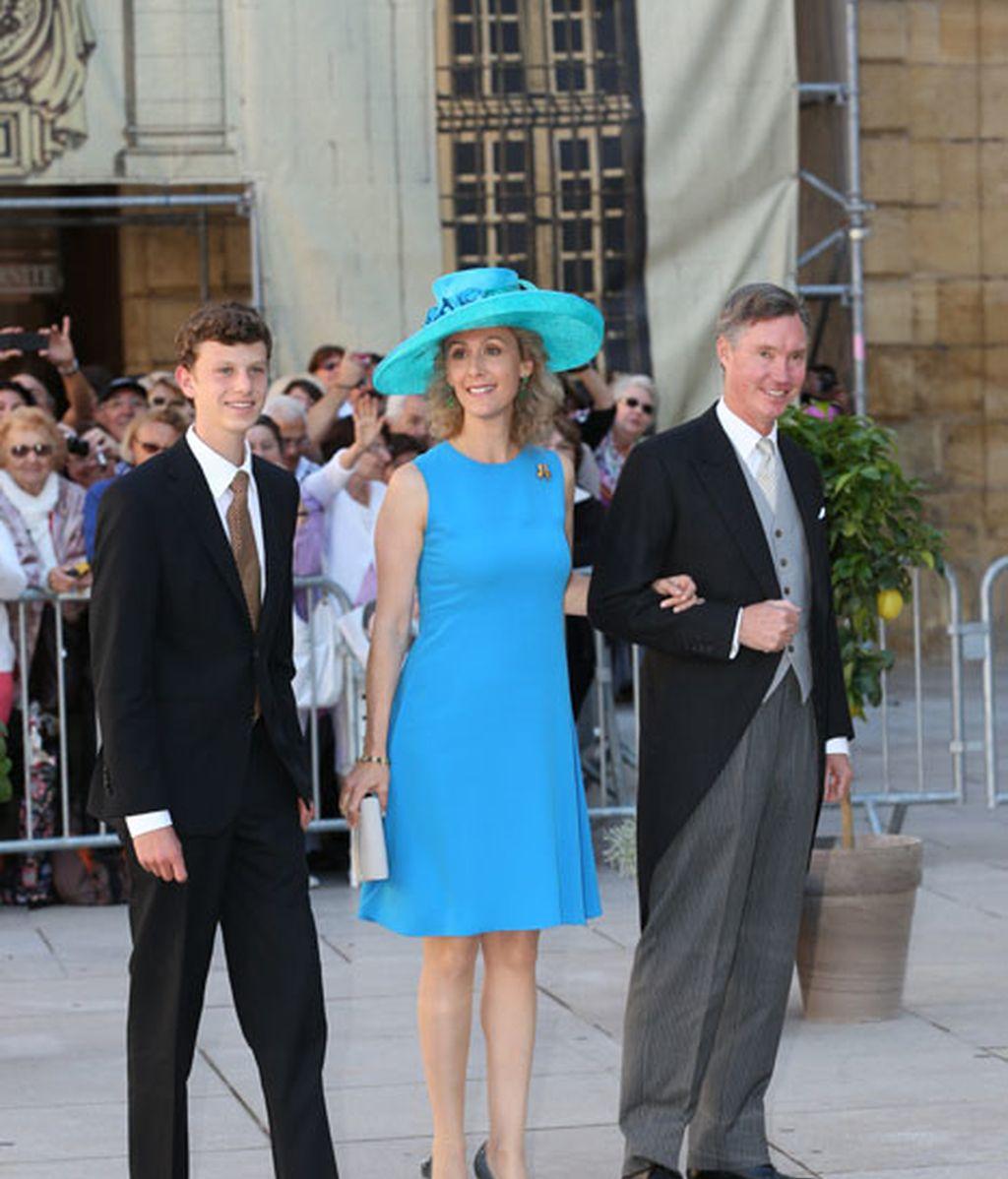 El príncipe Paul Louis, la princesa Sibilla y el príncipe Guillaume