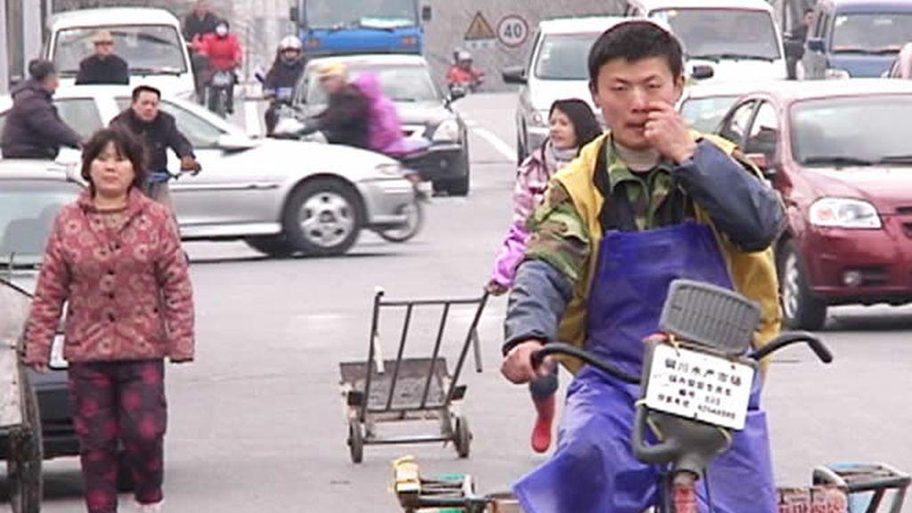 Tráfico en Shangai