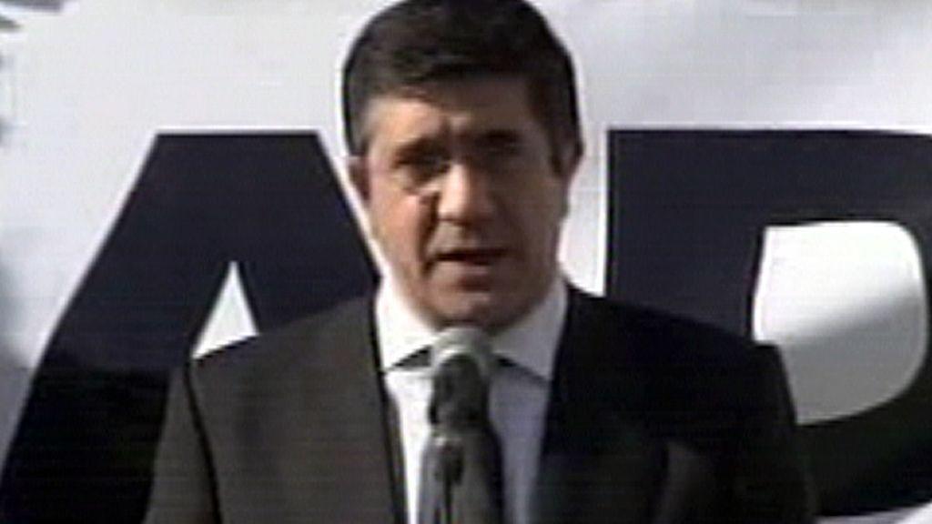 Patxi López en el Ayuntamiento de Bilbao