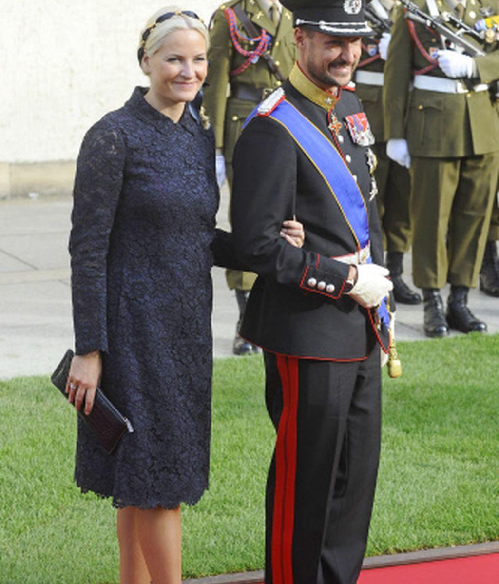 Haakon y Mette Marit de Noruega