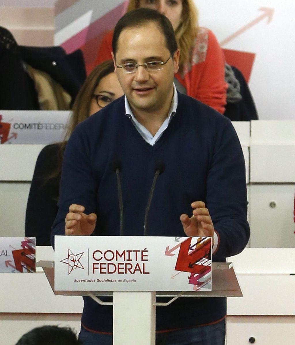 César Luena en un acto del PSOE