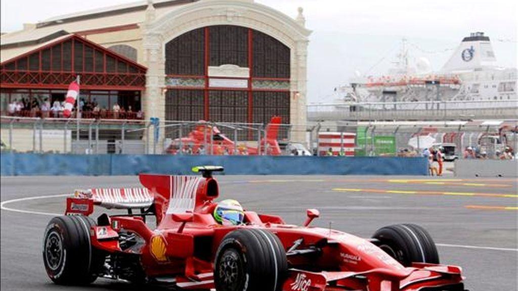 Massa estrenó la 'pole'