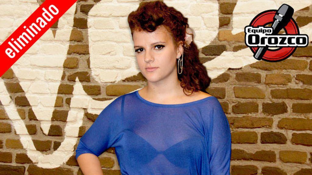 Cristina Rueda, 20 años, equipo Orozco | Eliminada