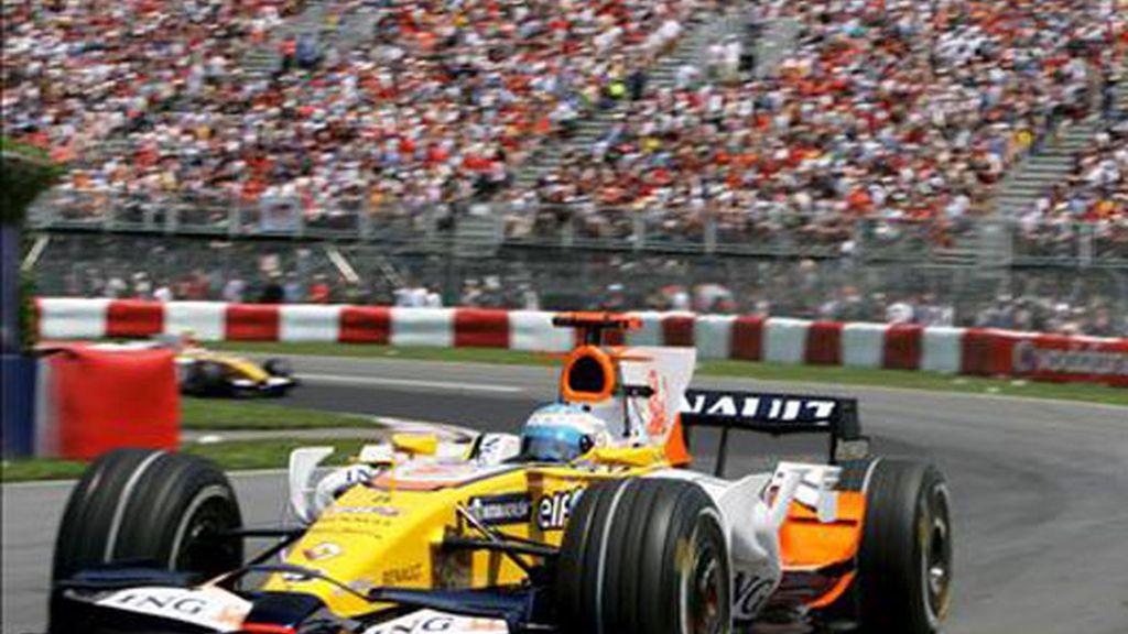 Fernando Alonso en el circuito de Montreal