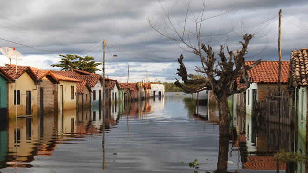 La inundación de una ciudad